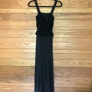 Beautiful vintage pleated lace detail maxi slip